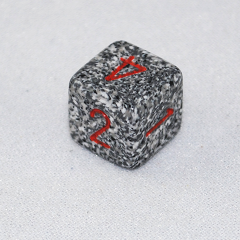 Speckled Granite 6 Sided Dice