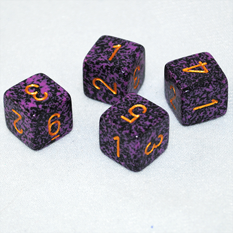 Speckled Hurricane 6 Sided Dice