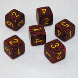 Speckled Mercury 6 Sided Dice