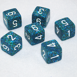 Speckled Sea 6 Sided Dice