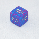 Speckled Silver Tetra 6 Sided Dice