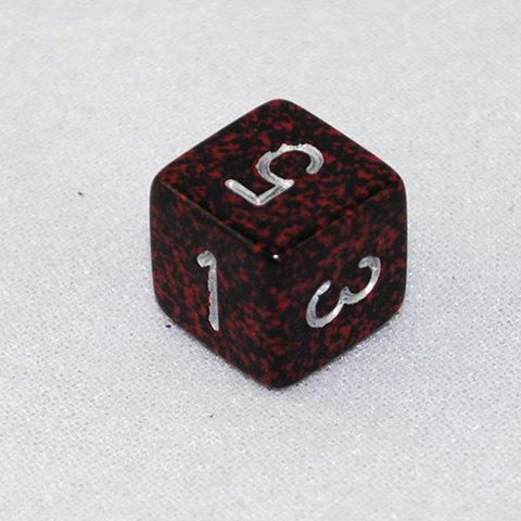Speckled Silver Volcano 6 Sided Dice