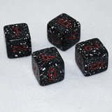 Speckled Space 6 Sided Dice