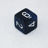 Speckled Stealth 6 Sided Dice
