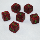 Speckled Strawberry 6 Sided Dice