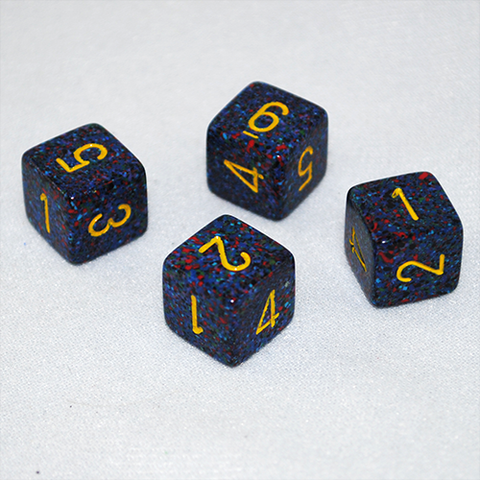 Speckled Twilight 6 Sided Dice