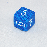 Speckled Water 6 Sided Dice