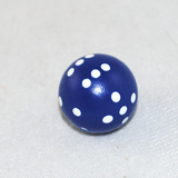 Blue Spherical 6-Sided Dice