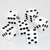 HQ Standard 16mm White Six Sided Dice