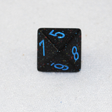 Speckled Blue Stars 8 Sided Dice