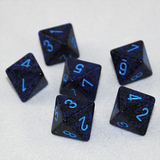 Speckled Cobalt 8 Sided Dice