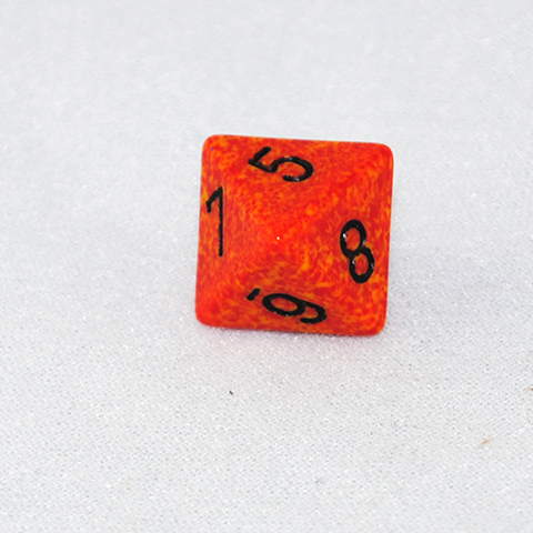 Speckled Fire 8 Sided Dice