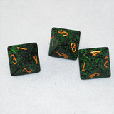 Speckled Golden Recon 8 Sided Dice