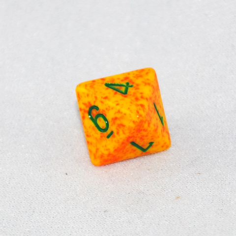 Speckled Lotus 8 Sided Dice