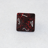 Speckled Silver Volcano 8 Sided Dice