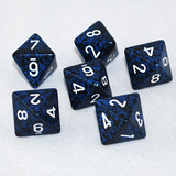 Speckled Stealth 8 Sided Dice