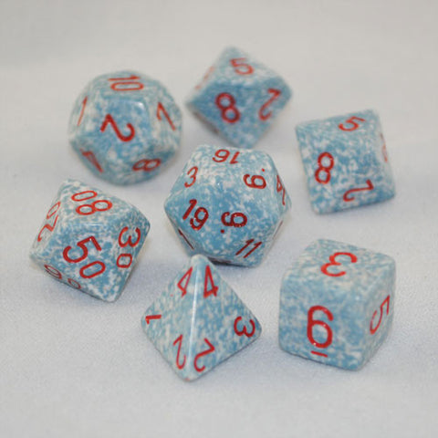 Set of 7 Speckled Air Dice