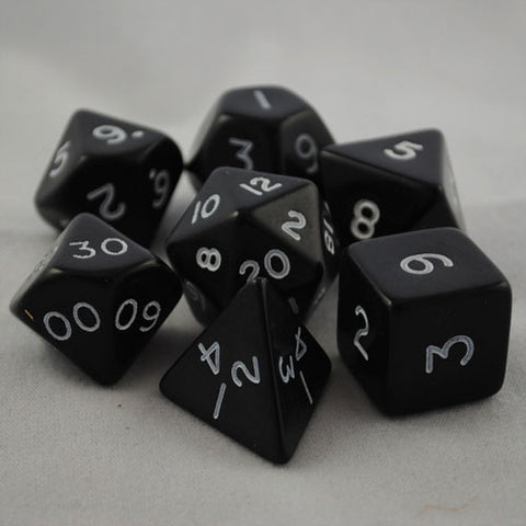 Giant 34mm Opaque Black Dice Set
