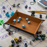 Brown Folding Dice Tray
