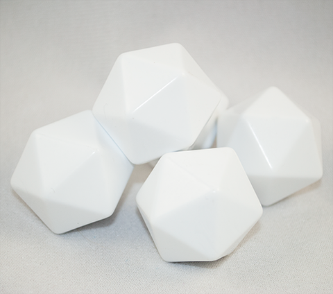 Large 20-Sided Blank Dice