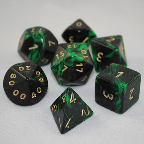 Giant 34mm Green Oblivion Dice Set
