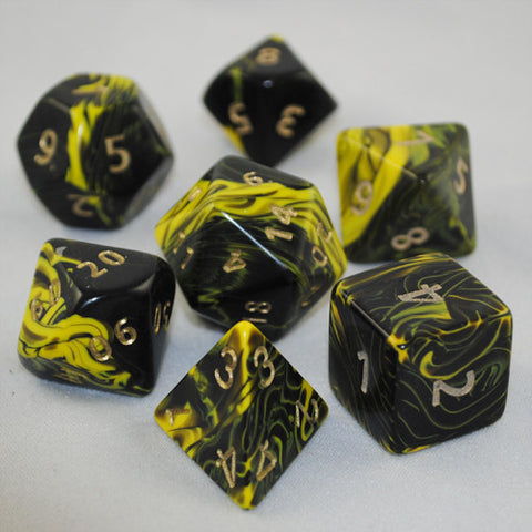 Giant 34mm Yellow Oblivion Dice Set