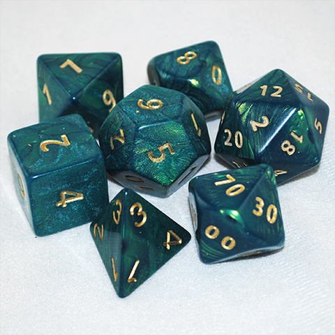 Giant 34mm Otherworld Green Dice Set
