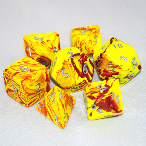Giant 34mm Toxic Red/Yellow Dice Set