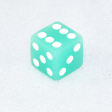 Glow in the Dark Lime Colored 6 Sided Dice