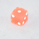 Glow in the Dark Peach Colored 6 Sided Dice