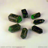 Green Crystal Caste Oblivion Dice Set