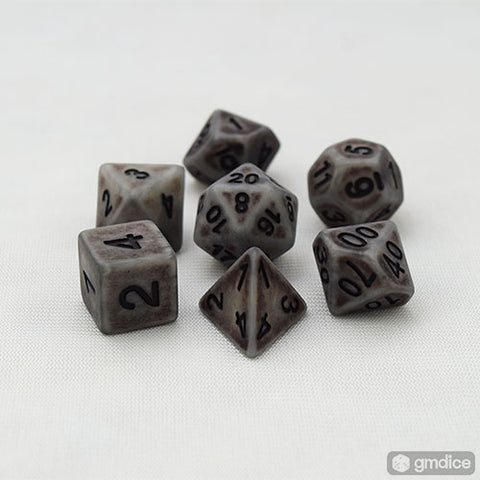 Rock Golem RPG Dice Set