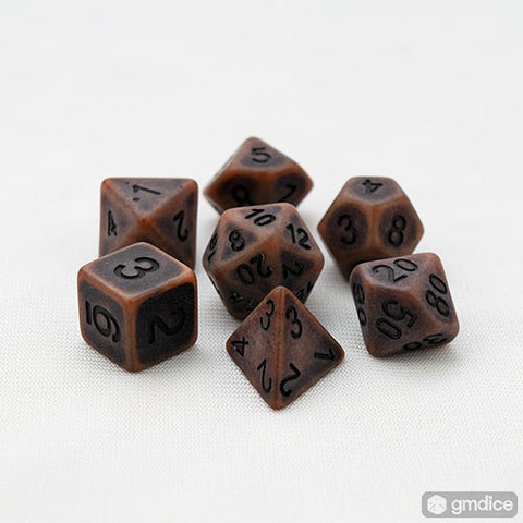 Earth Golem RPG Dice Set