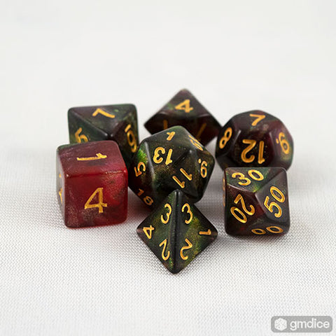 Midnight Rose RPG Dice Set