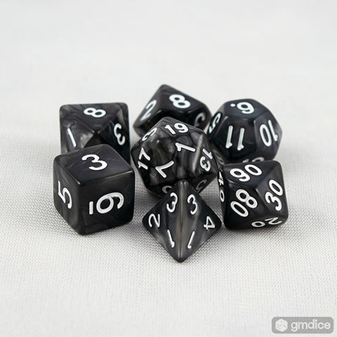 Black Pearl RPG Dice Set