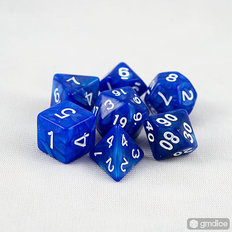 Blue Pearl RPG Dice Set