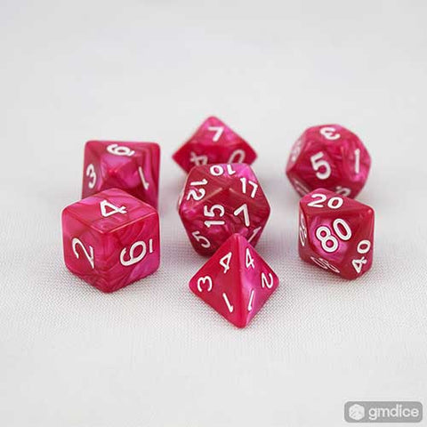 Rose Petal RPG Dice Set