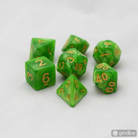 Green Goblin RPG Dice Set