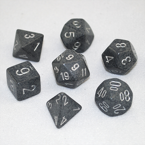 Set of 7 Speckled Hi Tech Dice