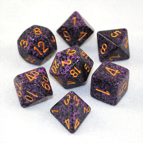 Set of 7 Speckled Hurricane Dice