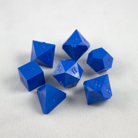 Set of 7 Gamescience Azure Blue Precision Dice