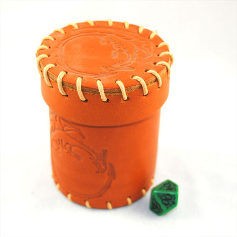 Brown Dragon Leather Dice Cup
