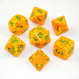 Set of 7 Speckled Lotus Dice
