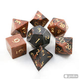 Mahogany Obsidian Gemstone Dice Set (16mm)