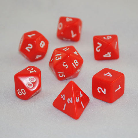 Opaque Dice Set