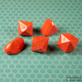 5-Piece Zocchi Originals Gamescience Dice Set (Orange)