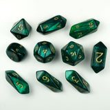 10-Piece Crystal Hybrid Pearlized Dice Set