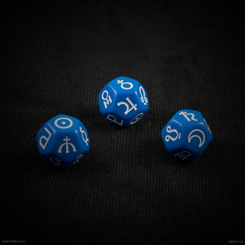 12-Sided Signs of the Planets Astrology Dice