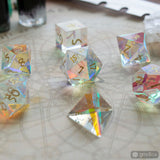 Prismatic Glass Dice Set