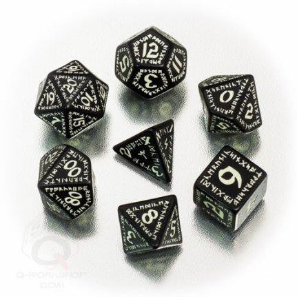Glow-in-the-Dark Runic Dice Set